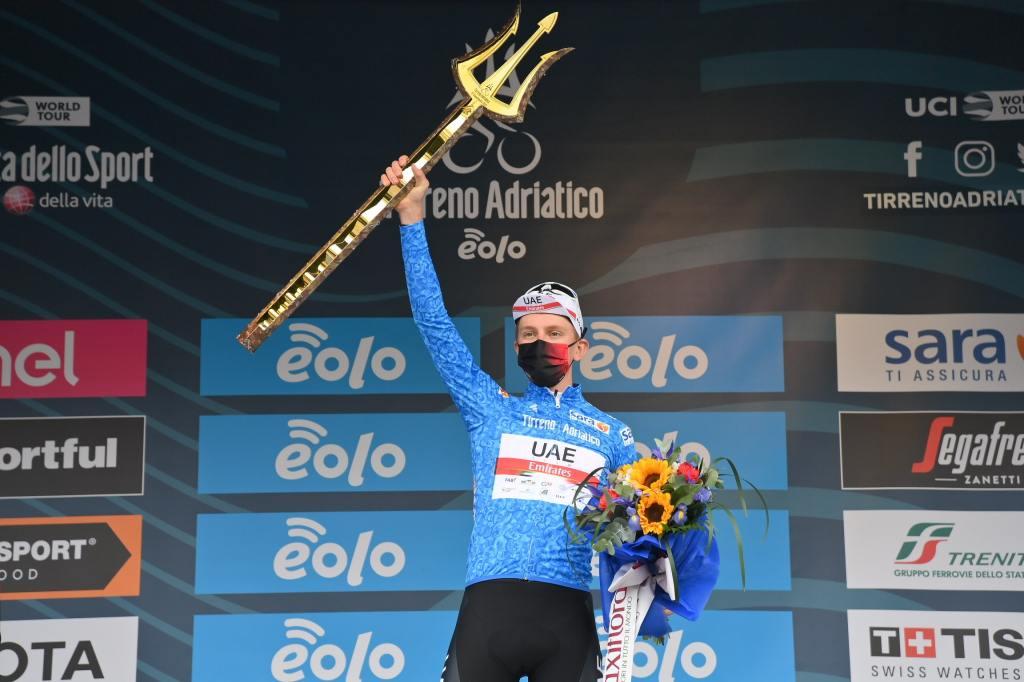Tadej Pogačar vince la 56° edizione della Tirreno-Adriatico.