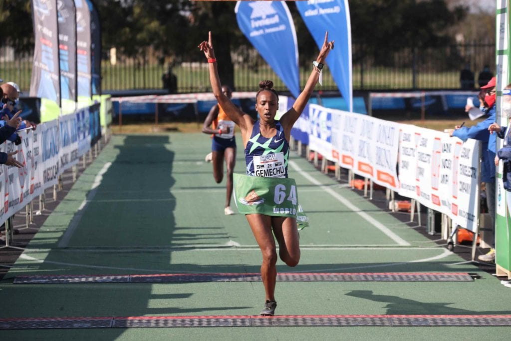 Primo posto nella competizione femminile per l'etiope Gemechu, Campaccio 2021