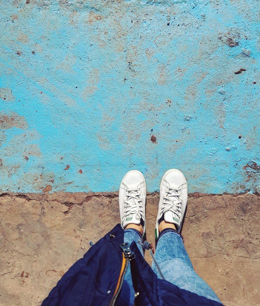Il colore azzurrino caratteristico del Velodromo di Roubaix