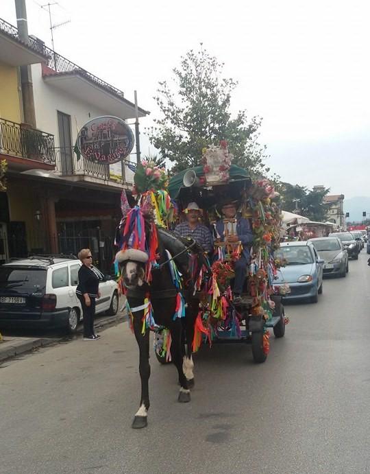 Carretto tradizionale della Festa della Madonna dei Bagni